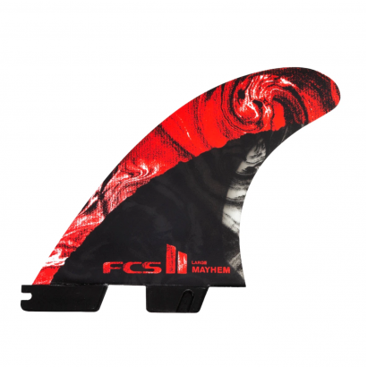 derives surf FCS II MB PC Carbon Large Red Tri Retail Fins