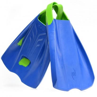 palmes bodyboard pod fins 1 blue lime