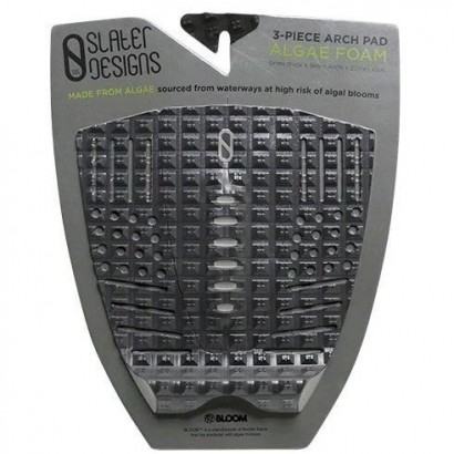 pad surf slater 3 piece arch traction pad black grey