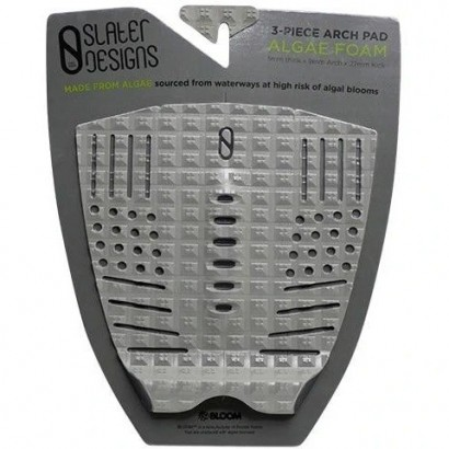 pad surf slater 3 piece arch traction pad grey black