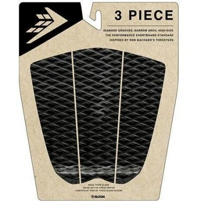 pad surf firewire 3 piece arch traction pad black charcoal
