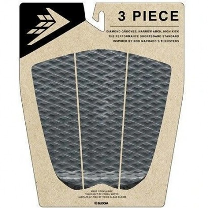 pad surf firewire 3 piece arch traction pad charcoal black