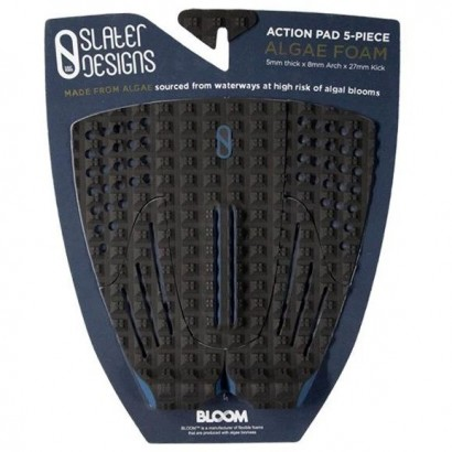 pad surf slater action 5 piece arch traction pad black grey
