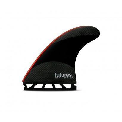 derives futures fins jj 2 medium techflex thruster black neon green