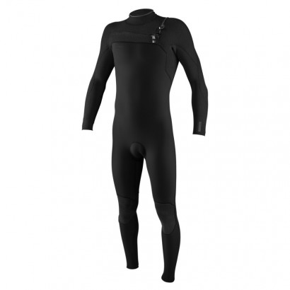 oneill hyperfreak 3 2mm black zip avant - combi surf integrale