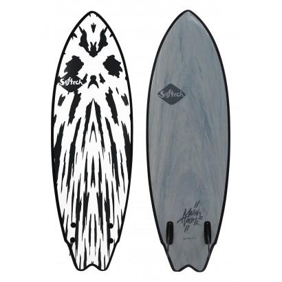 surf softech 5'6 mason twin neon red white