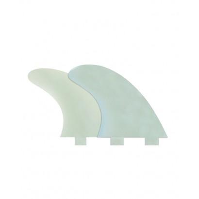 derives surf fcs M3 Natural Glass Flex Tri Fin Set