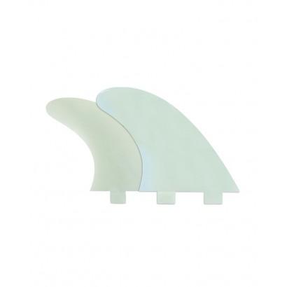 derives surf fcs M7 Natural Glass Flex Tri Fin Set