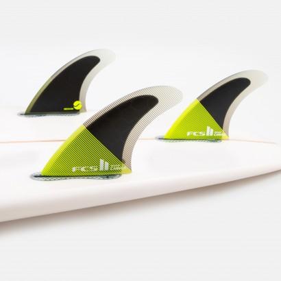 derives surf FCS II Carver PC Medium Acid/Black Tri Retail Fins