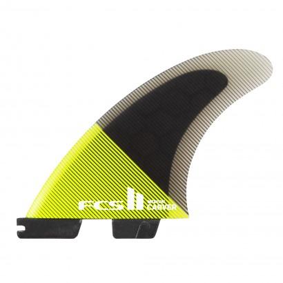 derives surf FCS II Carver PC Large Acid/Black Tri Retail Fins