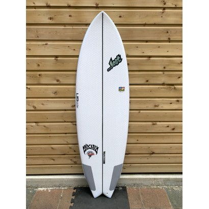 surf lib tech 6'2 lost round nose fish white