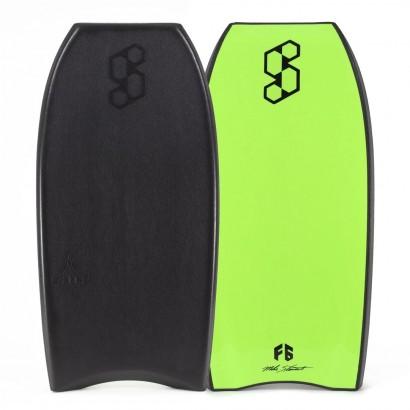 bodyboard 41 science launch tech crescent black fluro green