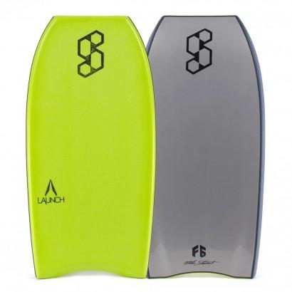 bodyboard 40 science launch tech crescent bright green silver
