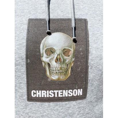 hoody surf christenson cigar box skull hooded fleece grey