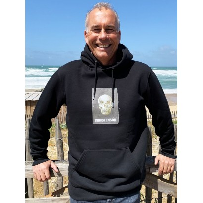 hoody surf christenson cigar box skull hooded fleece black
