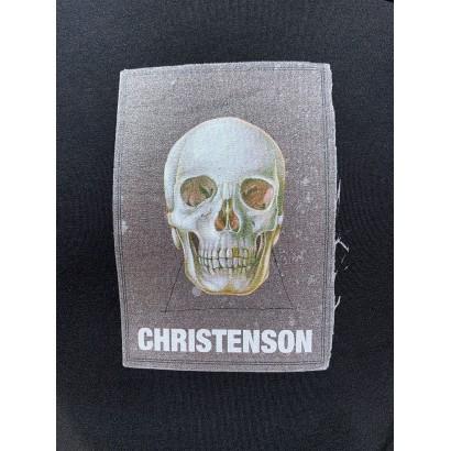 tshirt surf christenson cigar box skull tee black