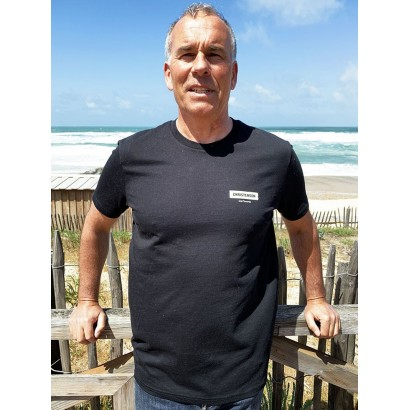 tshirt surf christenson round skull tee black