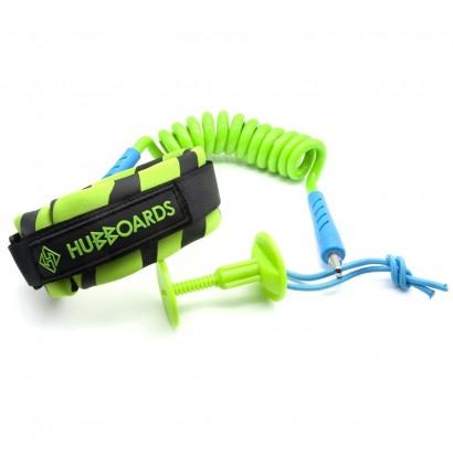 leash bodyboard hubboards hubb comp bicep leash lime