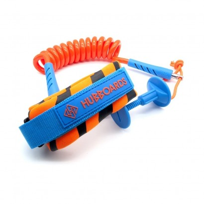 leash bodyboard hubboards hubb comp bicep leash orange