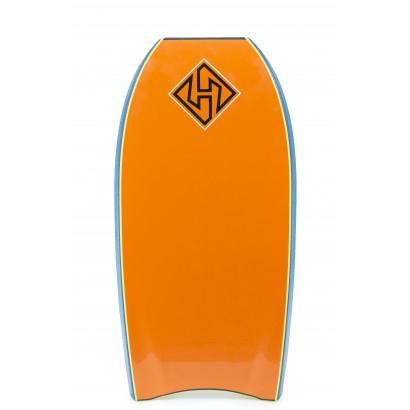bodyboard hubboards 42 5 dubb edition pp hd deep sea orange