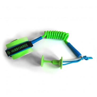 leash bodyboard hubboards hubb comp wrist leash lime