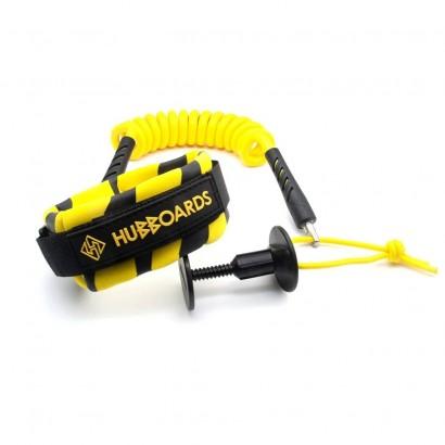 leash bodyboard nmd pro bicep leash black yellow