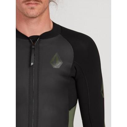 volcom veste stone zip jacket 2mm zip avant - combi surf top neoprene zip