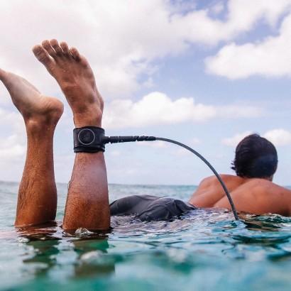 leash surf 6' FCS Freedom Helix All Round Leash Smoke White