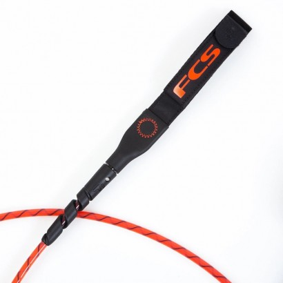 leash surf 6' FCS Freedom Helix All Round Leash Red Black