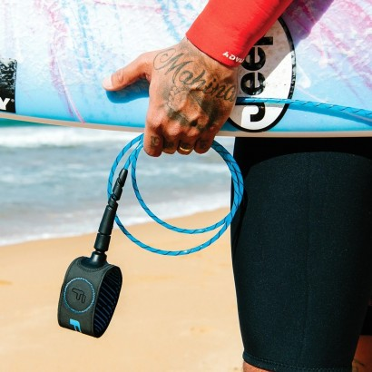 leash surf 7' FCS Freedom Helix All Round Leash Blue Black