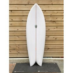 surf christenson 5'6 chris fish swallow tail futures fin