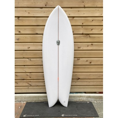 surf christenson 5'8 chris fish swallow tail futures fin