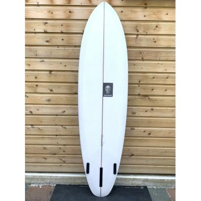 surf christenson 7'0 flat tracker sq box futures side fins