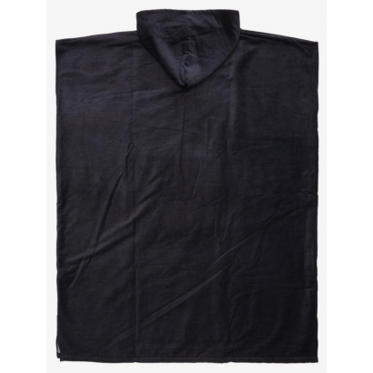 poncho surf quiksilver black hoody towel