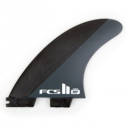 FCS II MF Neo Carbon Black White Large Tri Fins