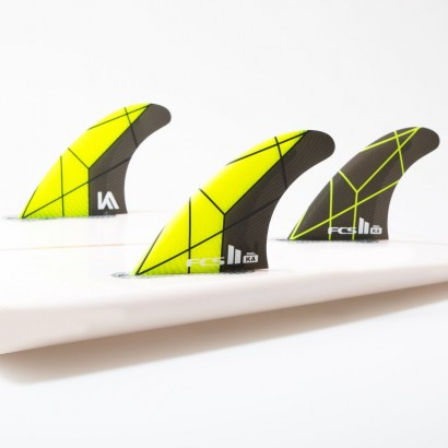 FCS II KA PC Yellow/Grey Small Tri Fins