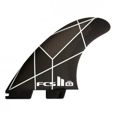 FCS II KA PC White/Grey Large Tri Fins