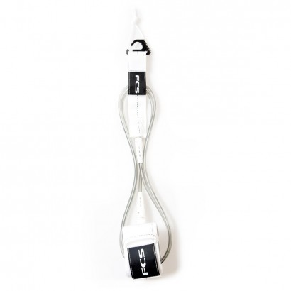 leash surf FCS 8' Reg Essential Leash White