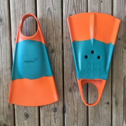 palmes bodyboard hydro fin orange emerald