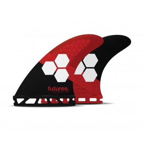 futures fins fam3 al merrick thruster rtm hex black red