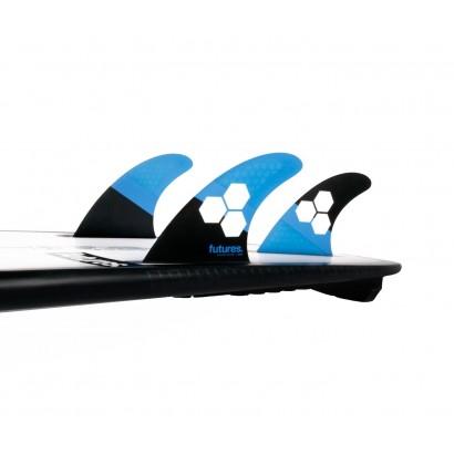 futures fins fam1 al merrick thruster rtm hex blue black