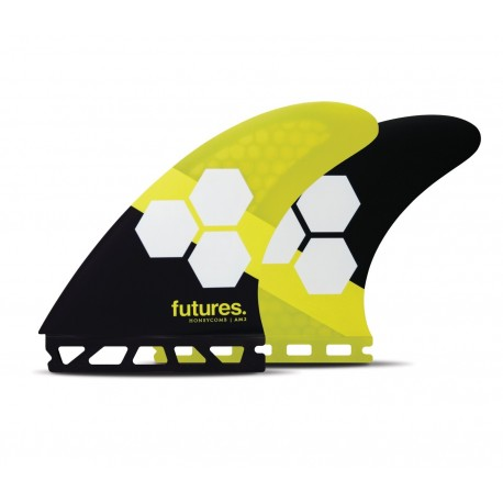 futures fins fam2 al merrick thruster rtm hex black yellow