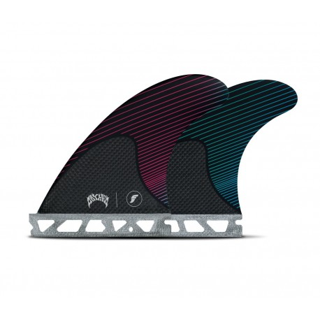 futures fins mayhem lost thruster small rtm hex pink teal