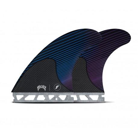 futures fins mayhem lost thruster large rtm hex blue violet