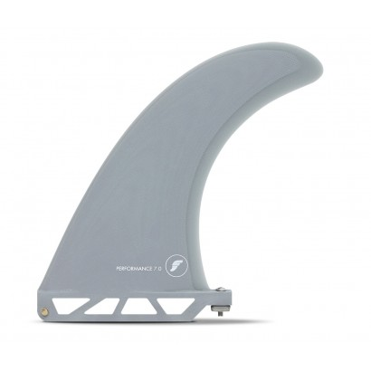 futures fins 7 performance fiber glass solid gey smoke single fin