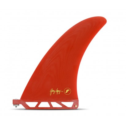 futures fins 7 75 gerry lopez fiberglass solid red single fin