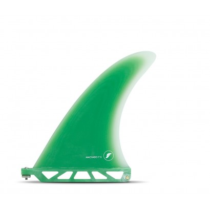 futures fins 7 75 rob machado fiberglass green single fin