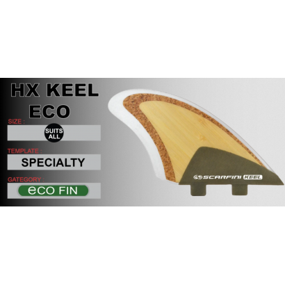 dérives surf twin fin hx keel eco scarfini