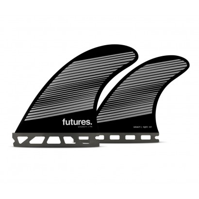 futures fins legacy series qf6 quad rtm hex gray black